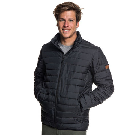 Quiksilver Scaly Water Resistant Puffa Jacket - Black