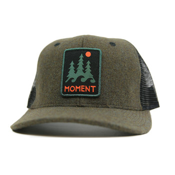 Moment Trees And Waves Hat - Moss Flannel