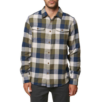 O'Neill Wilshire Flannel - Midnight Green