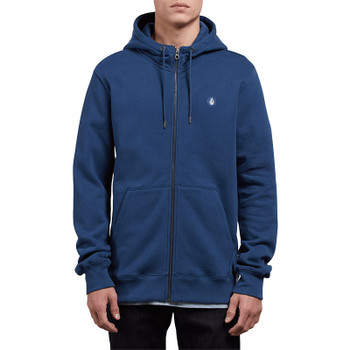 Volcom Single Stone Zip Hoodie - Matured Blue