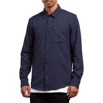 Volcom Caden Solid Long Sleeve - Midnight Blue