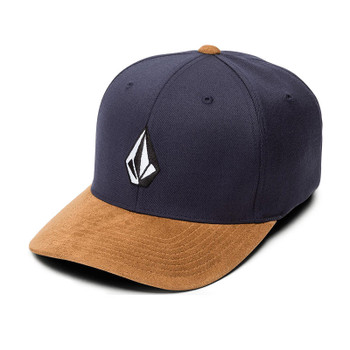 Volcom Full Stone Heather XFit Hat - Midnight Blue