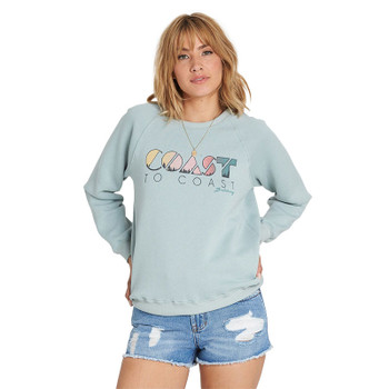 Billabong Coastal View Graphic Fleece - Blue Light