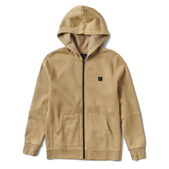 Roark Revial Well Worn Zip Fleece - Khaki