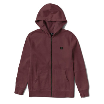 Roark Revial Well Worn Zip Fleece - Burgundy