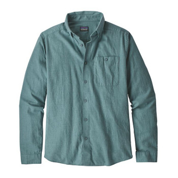 Patagonia Men's L/S Vjosa River Pima Cotton Shirt - Shadow Blue