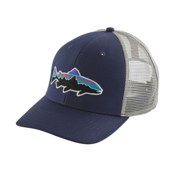Patagonia Fitz Roy Trout Trucker Hat - Classic Navy / Drifter Grey