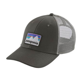 c0004ea9421 Patagonia Shop Sticker Logo Lopro Trucker Hat - Forge Grey