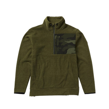 Billabong Boundary Mock Half Zip - Military