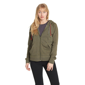 Element Lette Zip Up Hoodie - Moss Green