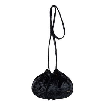 Roxy Spread Love Small Velvet Shoulder Bag - True Black