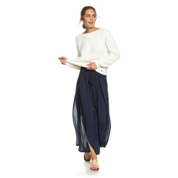 Roxy Kuta Wide Leg Pants - Dress Blues