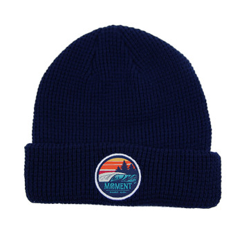Moment Sunset Waves Beanie - Navy