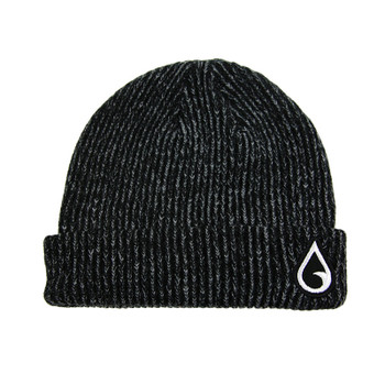 Moment Raindrop Patch Beanie - Black Heather