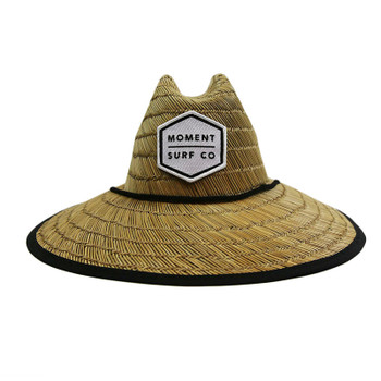 Moment Lifeguard Boxed Logo Straw Sun Hat