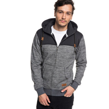 Quiksilver Keller Block Zip - Dark Grey Heather
