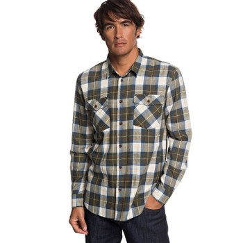 Quiksilver Waterman Wade Creek Flannel - Ivy Green