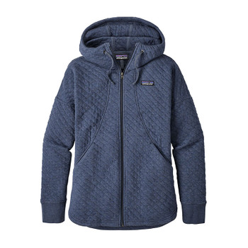 Patagonia Women's Organic Cotton Quilt Hoody - Stone Blue