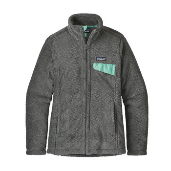 Patagonia Women's Full-Zip Re-Tool Jacket - Feather Grey/Ink Black/Vjosa Green X-Dye