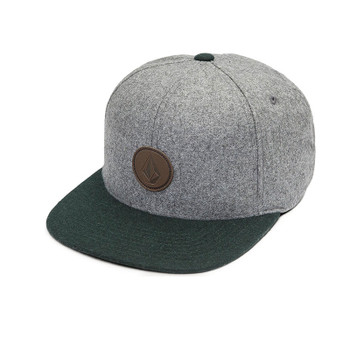 Volcom Quarter Fabric Snapback Hat - Dark Pine