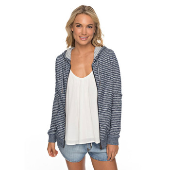 Roxy Trippin Stripes Zip Hoodie - Marshmellow Just Simple Stripe