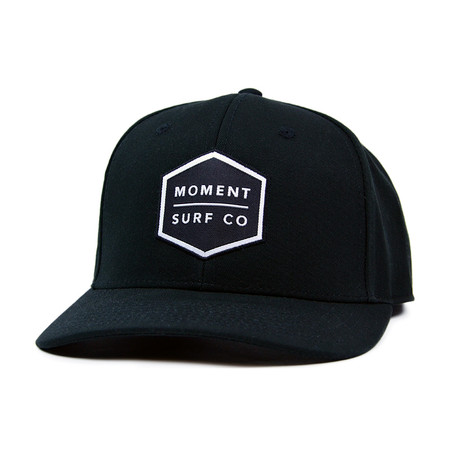 Moment Boxed Logo Structured Hat - Black