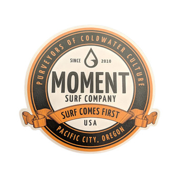 Moment Round Crest Sticker
