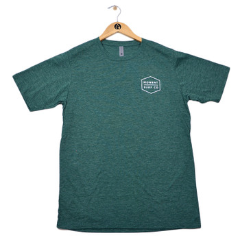 Moment Boxed Logo Tee - Royal Pine