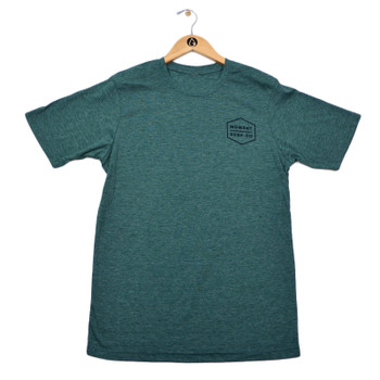 Moment Boxed Logo Tee - Royal Pine Black