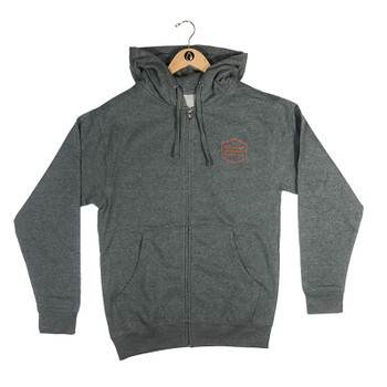 Moment Boxed Logo Zip Hoodie - Gunmetal Orange