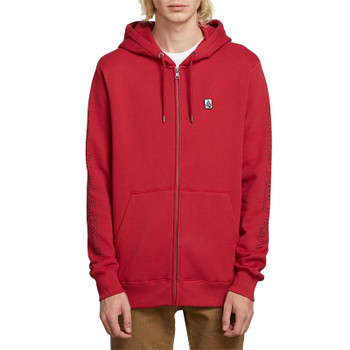 Volcom Supply Stone Zip Hoodie - Burgundy