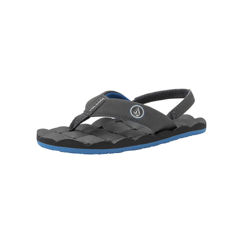 3f051a7f6f01 Volcom Boys (2-7) Recliner Sandal - Blue Combo - Side