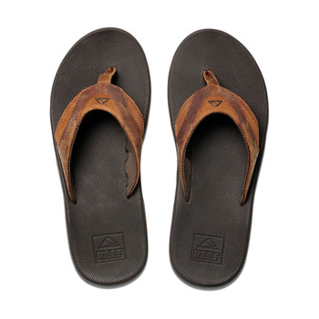 Reef Leather Fanning Sandal - Bronze