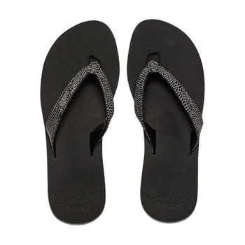 Reef Star Cushion Sassy Sandal - Black / Silver