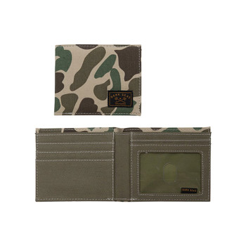 Keep your money hidden from unwanted foes with the Dark Seas Camp Pendleton Bifold Wallet.