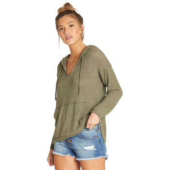 Billabong Days In The Sun Hooded L/S Top - Sage