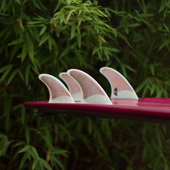 Pushfins DailyDriver Quad Fin Set - Clear White