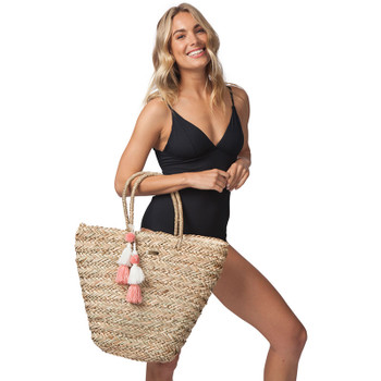 Rip Curl Shorelines Straw Tote - Natural