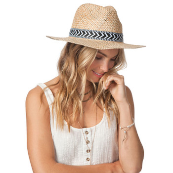 Rip Curl Coast To Coast Panama Straw Hat - Natural