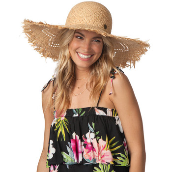 Rip Curl Shorelines Boho Straw Hat - Natural