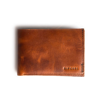 Rip Curl Handcrafted Slim Leather Wallet - Brown