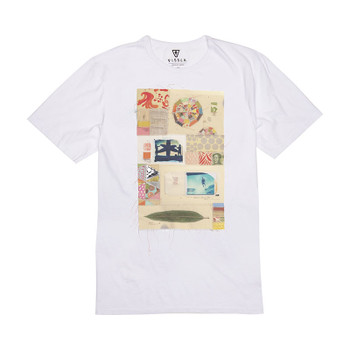 Vissla Thomas Campbell Slide Vintage Wash Tee - White