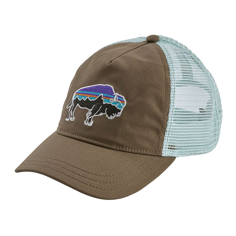 1611454572f75a Patagonia Women's Fitz Roy Bison Layback Trucker Hat - Burnie Brown    Moment Surf Company