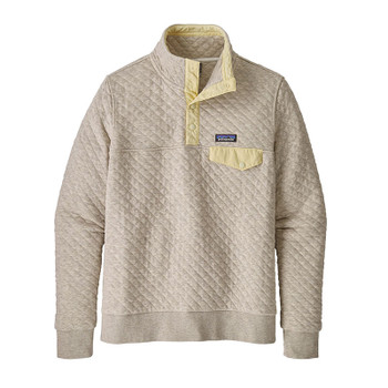 Patagonia Women's Organic Cotton Quilt Snap-T Pullover - Birch White W/Resin Yellow