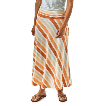 Patagonia Women's Kamala Maxi Skirt - Water Ribbons: Sunset Orange