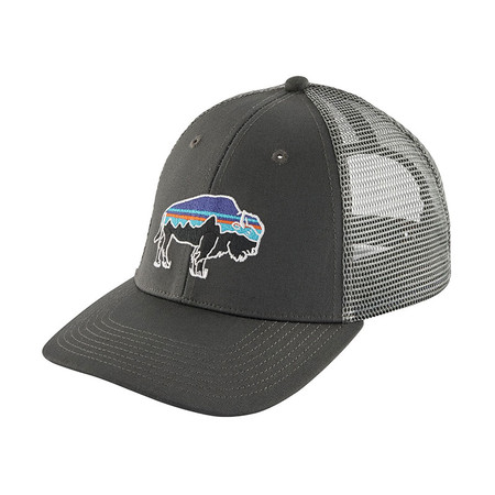 Patagonia Fitz Roy Bison LoPro Trucker Hat - Forge Grey W/Feather Grey