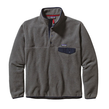 Patagonia Men's Lightweight Synch Snap-T Pullover - Nickel W/Navy Blue
