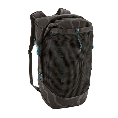 Patagonia Planing Roll Top Pack 35L - Tiger Tracks Camo: Ink Black