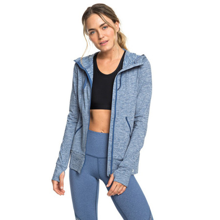 Roxy Every Little Things Zip-Up Sports Hoodie - True Navy