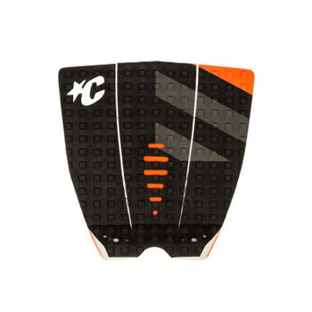 Creatures of Leisure Mick Fanning Signature Traction Pad - Black Grey Orange